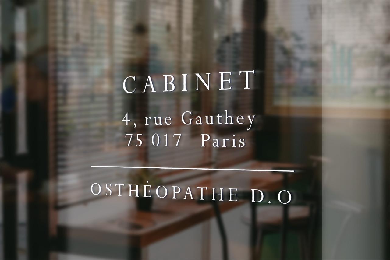 Sweet Pea, pour un Cabinet d'ostéopathie